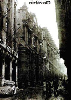 Bankalar Caddesi, Karaköy. 1940'lar.