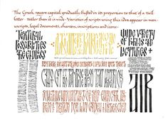 Georgia Angelopoulos. Experimenting with Byzantine style capitals.