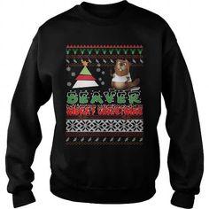 Beaver Ugly Christmas Sweater T-Shirts & Hoodies