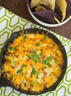 Queso Fundito | browneyedbaker.com #recipe #CincodeMayo