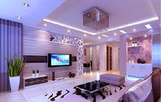 Glamorous living room with stylish furniture and brownish animal printed rug