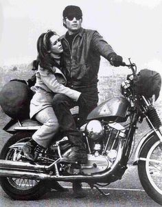 """Still from the c.1970 TV show, """"Then Came Bronson."""" H-D Sportster, 883cc"""
