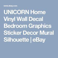 UNICORN Home Vinyl Wall Decal Bedroom Graphics Sticker Decor Mural Silhouette   | eBay