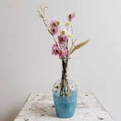 This is a lovely vintage glass flower vase with a hand-rendered floral design. Perfect for use as a bud vase! Glass Flower Vases, Bud Vases, Glass Vase, French Industrial Decor, Summer Kitchen, Antique Clocks, French Vintage, Kitchen Decor, Home Goods