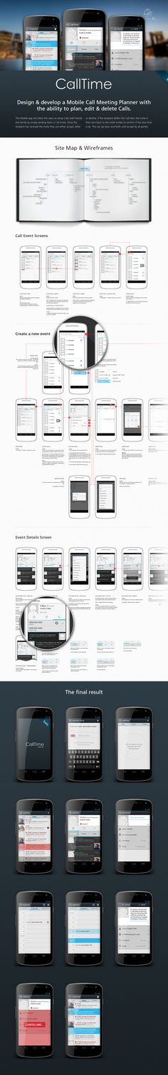 CallTime by Ross MacKintosh, via Behance *** CallTime is a proof of concept to see if group calling/setup of group calling can be achieved easily, working across both iOS and Android.