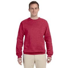 Men's Vintage Heather 50/50 Nublend Fleece Big and Tall Crew-neck Sweater