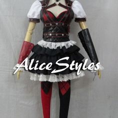 Batman Arkham Knight Harley Quinn Cosplay Costume Custom made in any size