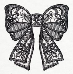 FSL Bow - perfect for Iris Thread and Badgemaster. Put a Bow on It | Urban Threads: Unique and Awesome Embroidery Designs