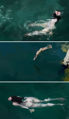 Pedro Covo / Series: Underwater by colagene, illustration clinic, via Behance