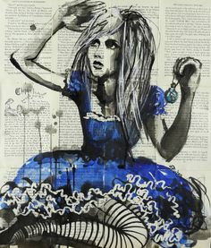"Saatchi Online Artist: Sara Riches; Ink 2013 Drawing ""Drink Me"" #art #aliceinwonderland"