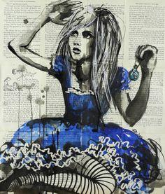 """Saatchi Online Artist: Sara Riches; Ink 2013 Drawing """"Drink Me"""" #art #aliceinwonderland"""