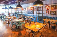 Дизайн интерьера ресторана от Blacksheep в Сингапуре