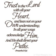 Trust in the Lord Quote Vinyl Wall Decal Sticker Art-Home Decor -- To view further for this item, visit the image link. (This is an affiliate link) #WallStickersMurals