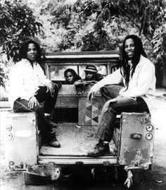 """*Bob Marley* His iconic Land Rover 1977 Series III 109"""" Pickup, original family car. Bob's Landy, one of the coolest restoration projects the world has ever seen. More fantastic pictures and videos of *Bob Marley* on: https://de.pinterest.com/ReggaeHeart/"""