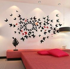 Schmetterlinge aus Papier schneiden, falten und Du hast eine wunderschöne Dekoration! 13 hübsche Ideen! - DIY Bastelideen