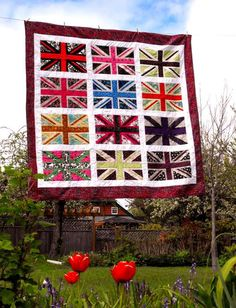 If only I knew how to quilt... or even sew... The Jack Union Jack Quilt PDF by flailoftheflair on Etsy