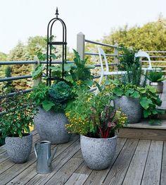 DIY Garden Dekorációs ötletek beton virágtartók