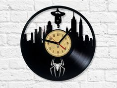 Vinyl Clock - Spider-Man - Visit to grab an amazing super hero shirt now on sale!