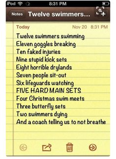 Just for you Kelley Cooper Spencer! Swimming Funny, I Love Swimming, Swimming Diving, Funny Swimming Quotes, Competitive Swimming, Synchronized Swimming, Swim Mom, Swim Team Mom, Swimmer Problems