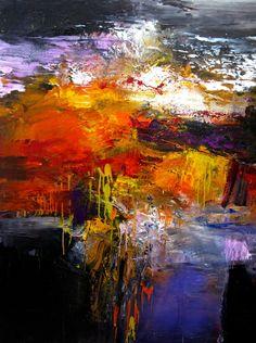 """Saatchi Online Artist: Stricher Gerard; Oil 2010 Painting """"""""Du Sang et des Larmes"""""""""""