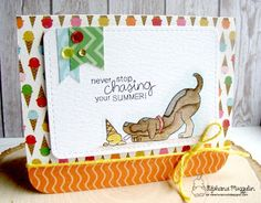 Never Stop Chasing your Summer Card by Stephanie Muzzulin | Dog Days of Summer Stamp set by Newton's Nook Designs #newtonsnook