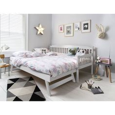 Noa and Nani - Isabella Single Day Bed with Pullout Trundle - (White) Queen Bedroom, Bedroom Sets, Girls Bedroom, Bedroom Inspo, Queen Bedding, Bedroom Office, Baby Bedroom, White Bedroom, Master Bedroom
