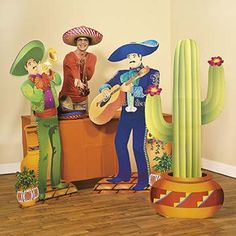 Fiesta Cinco de Mayo Party Decorations.   Invite these fun stand-ups to your fiesta for lots of fun! Perfect for making your fiesta or Cinco de Mayo event bright and colorful.