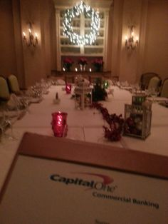 We work with our generous sponsors to deliver unique opportunities for them to have quality time with their target clients, like this private dinner hosted by Capital One.