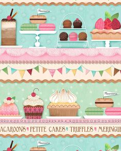 Sugary Sweet - Bakery Shelves Stripe - Quilt Fabrics from www.eQuilter.com