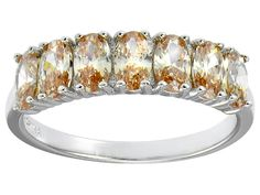 Bella Luce(R) 2.45ctw Oval Champagne Diamond Simulant Sterling Silver Ring