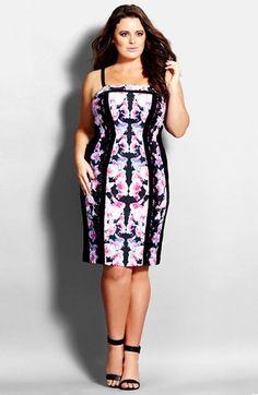 City Chic 'Floral Affair' Dress (Plus Size)