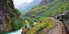 Travel the famous Flam Railroad through Norway's dramatic landscapes and be amazed at the sheer wilderness of it all. Bergen, Oslo, Wilderness, Norway, River, Mountains, Landscapes, Amazing, Outdoor