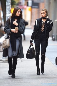 baldwinupdates:  November 18: Hailey Baldwin and   Gabby Brook   out and about in Soho, New York