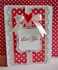 Great pattern that could easily have a lot of different sentiments and could be 'unvalentined'. Valentine Love Cards, Stampinup, Cool Cards, Creative Cards, Anniversary Cards, Greeting Cards Handmade, Scrapbook Cards, Homemade Cards, Stampin Up Cards