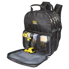 Tool Backpack Organizer Bag Internal External 3 Poly Bags Pocket Cordless Tools for sale online Hvac Tool Bags, Hvac Tools, Dewalt Tools, Belt Storage, Tool Storage, Storage Ideas, Storage Solutions, Backpack Organization, Tool Organization