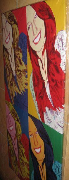Quadro estilo Pop Art personalizado com a sua foto preferida poster e moldura em madeira arte no estilo andy Warhol