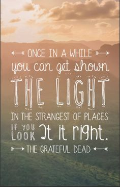 Song Lyrics Quote Poster - Grateful Dead - Scarlet Begonias