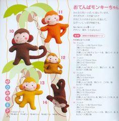 Casinha dos moldes: macacos