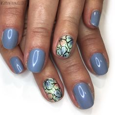 delicate flower featuring opi