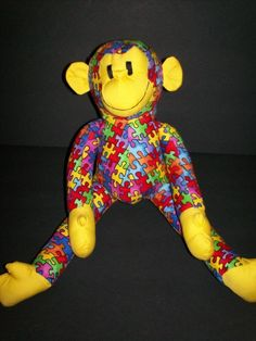 Autism Awareness  Funky Monky Puzzle Monkey FREE by FunkyMonky, $20.00