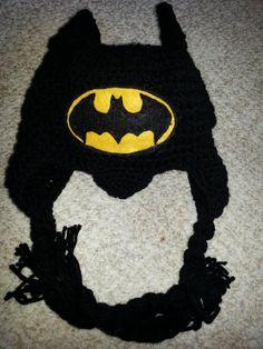 Batman Crochet Hat with Bat Ears and by HotOffTheHookCrochet, $29.00