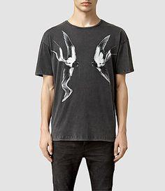 Men's Swooping Crew T-Shirt (Vintage Black) -