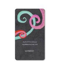 Chalkboard Swirls Design Business cards Rounded Corner