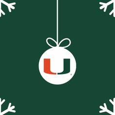 Green Pewter Christmas Tree Ornament University of Miami