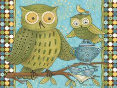 Debbie Mumm desktop backgrounds - June Owls
