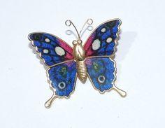 Vintage Butterfly Brooch http://etsy.me/1s3bzEN via @Etsy #vintage #jewelry #fashion