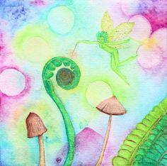 New original watercolor at Faerie Garden Fancies!
