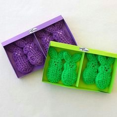 And these completed #crochet #easter bunny Peeps are sold on #Etsy