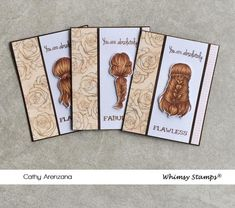 *NEW Braided Clear Stamps | Whimsy Stamps Braid Designs, Whimsy Stamps, Friendship Cards, Stamp Collecting, Clear Stamps, Thank You Cards, Braids, Hair, Appreciation Cards