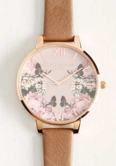 Yours, Mine, and Hours Watch in Taupe by Olivia Burton - Floral, Work, Casual, Exceptional, Rose Gold, Leather, Metal, Pink, Brown, Tan, Daytime Party, Graduation, Fall
